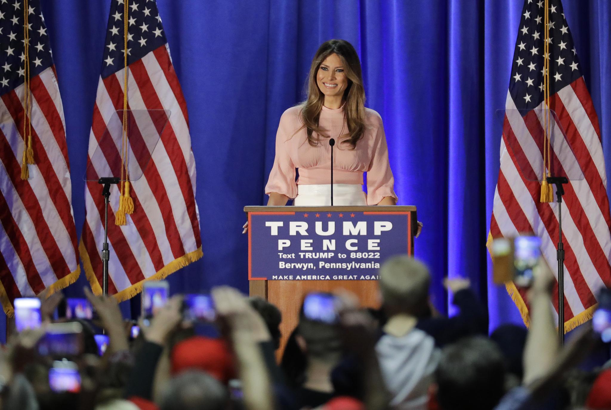 Melania Trump durante las campañas presidenciales estadounidenses.