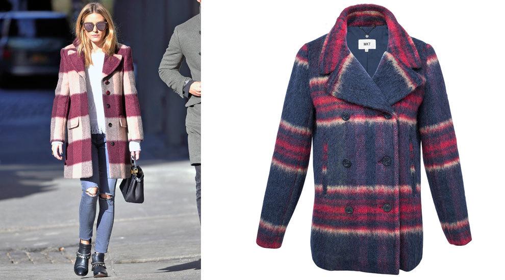 El abrigo de cuadros es uno de los indiscutibles de su armario.