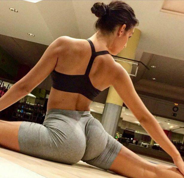 Georgina Rodríguez haciendo fitness.