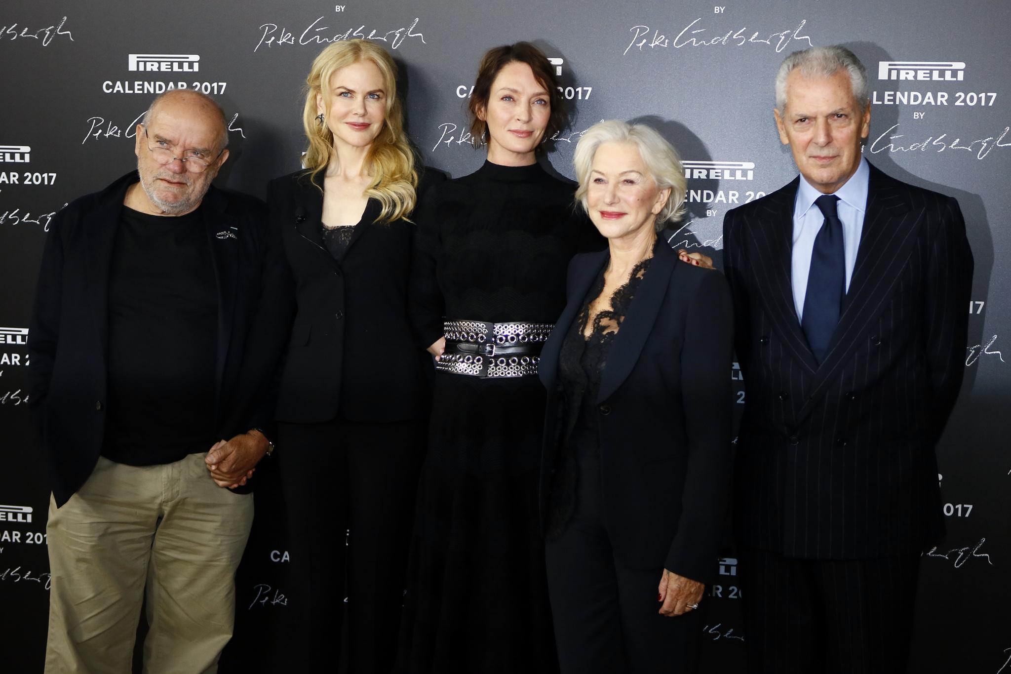 Peter Lindbergh, Nicole Kidman, Uma Thurman, Helen Mirren y Marco...