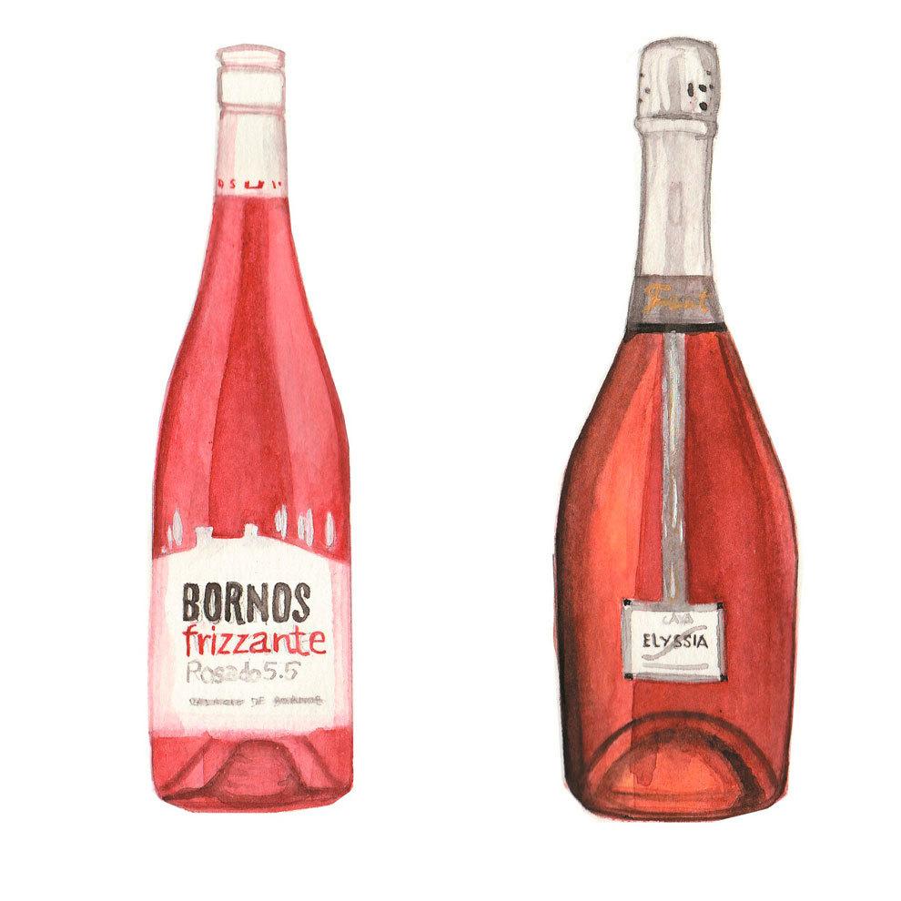 Frizzante Rosado y Elyssia Pinot Noir.