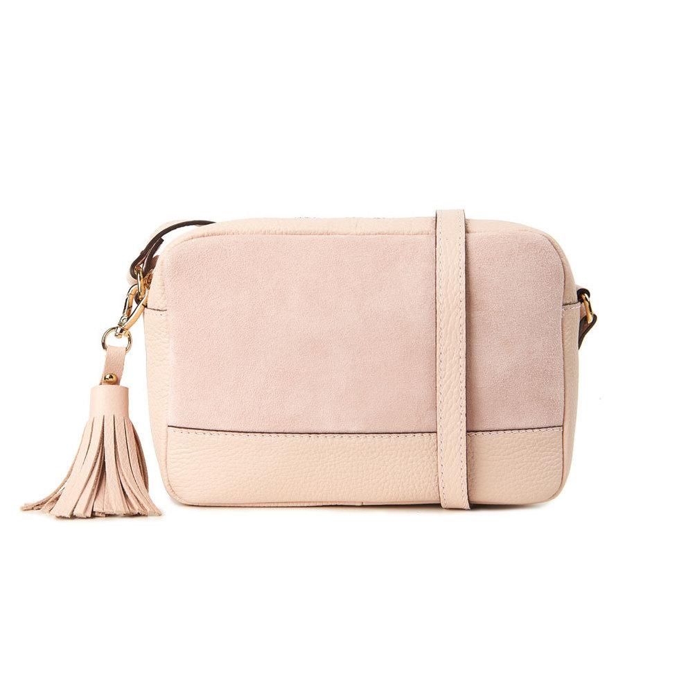 Bolso Tango Fun Provence en color rosa, de dos texturas ante y piel,...
