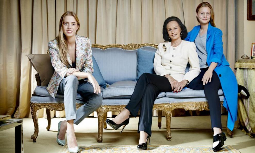Sonsoles Diez de Rivera y sus nietas, Ana y Beatriz