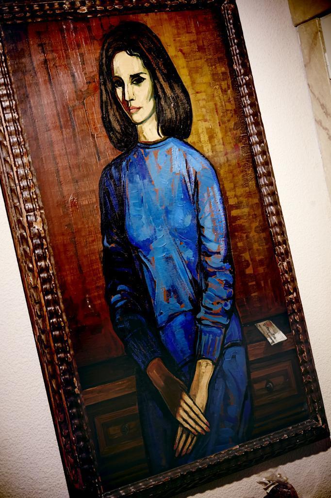 Cuadro pintado por Agustín Hernández cuando Sonsoles tenía 25 años...