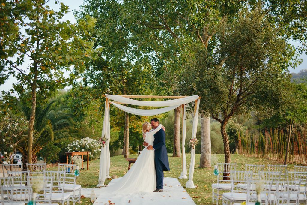 Macarena y Miguel se casaron en un boda romántica, tipo cóctel y en...