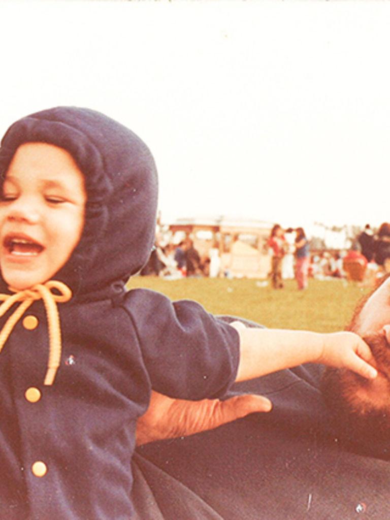 Meghan Markle de pequeña.