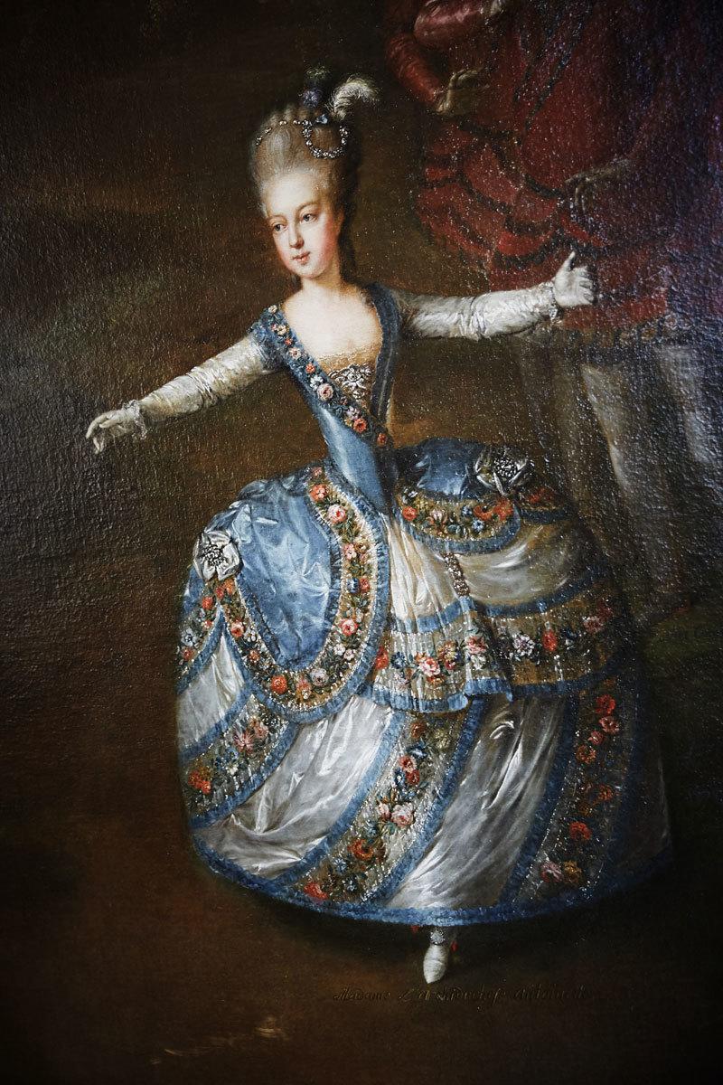 Retrato de la bailona María Antonieta.