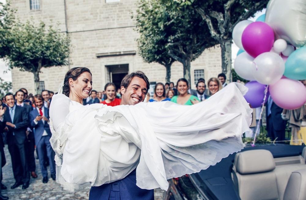 Jimena y Curro se casaron en una boda con temática taurina en una...