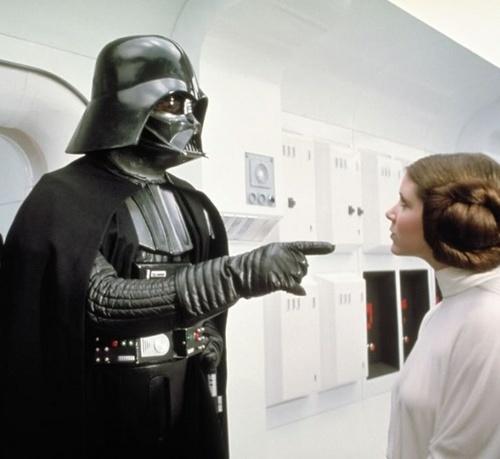 Vader junto a Leia.