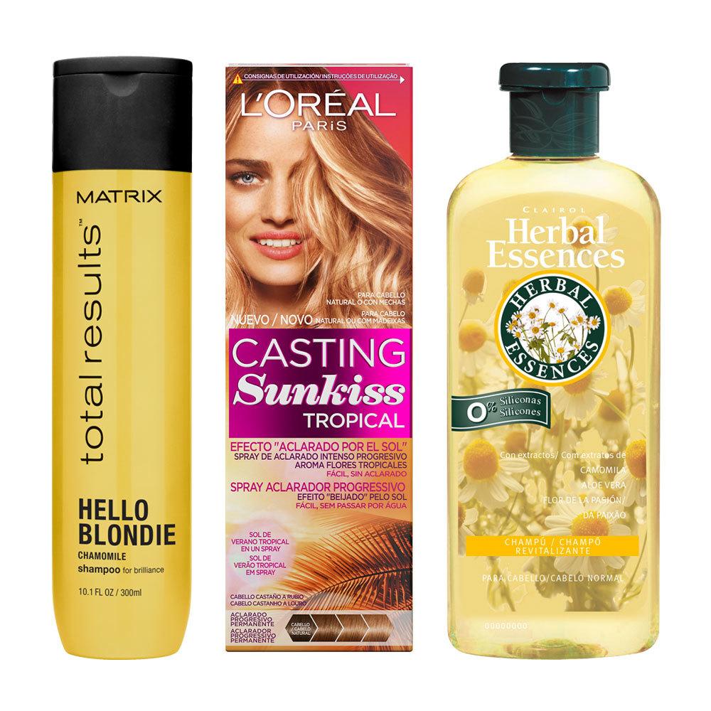 Productos con ingredientes para incrementar el brillo de los cabellos...