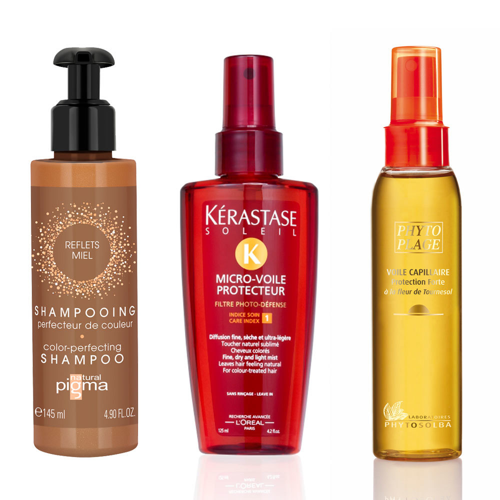 Productos para reavivar y proteger el color rubio de tu cabello.