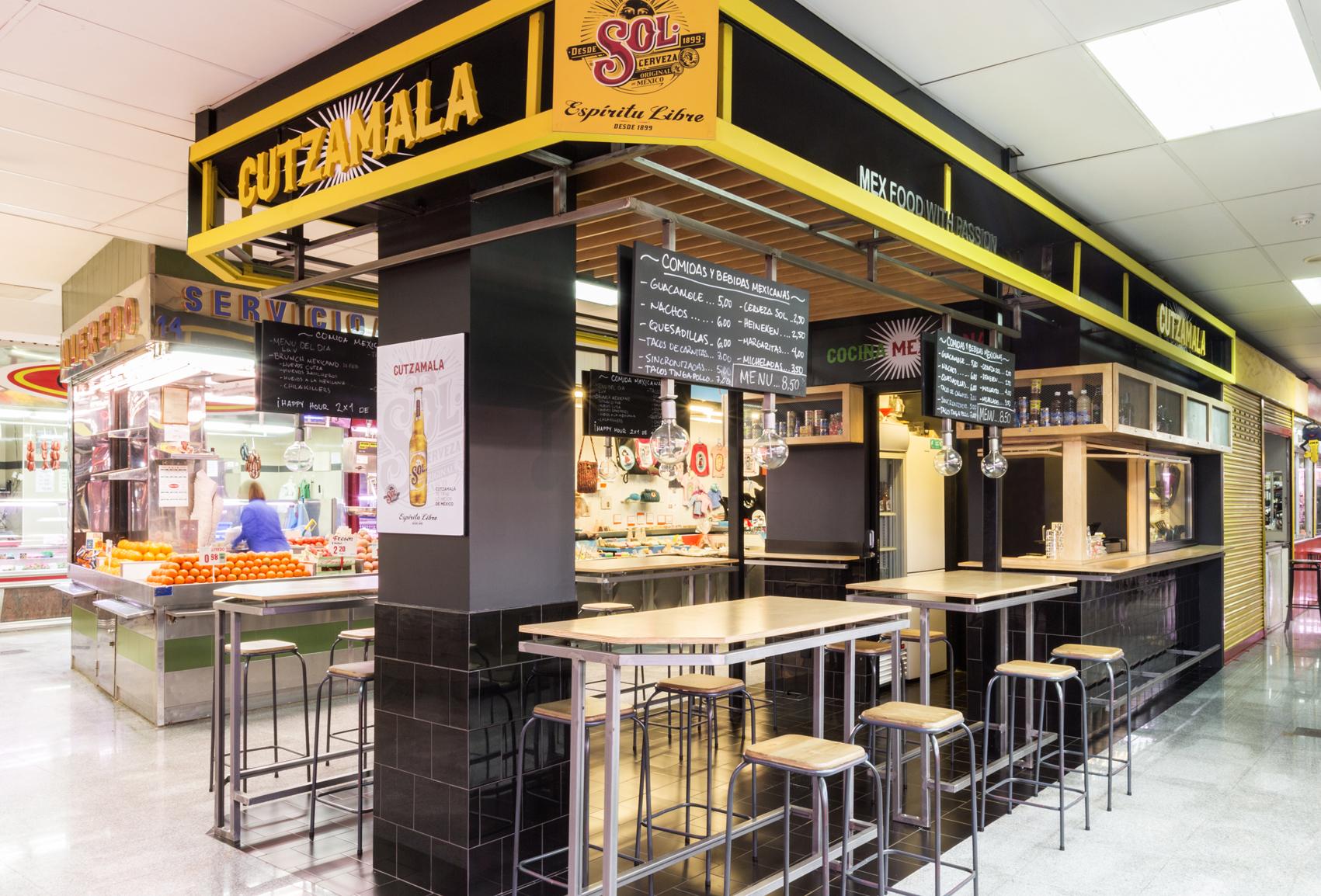 Cutzamala Mex Food, en el Mercado de Antón Martín.