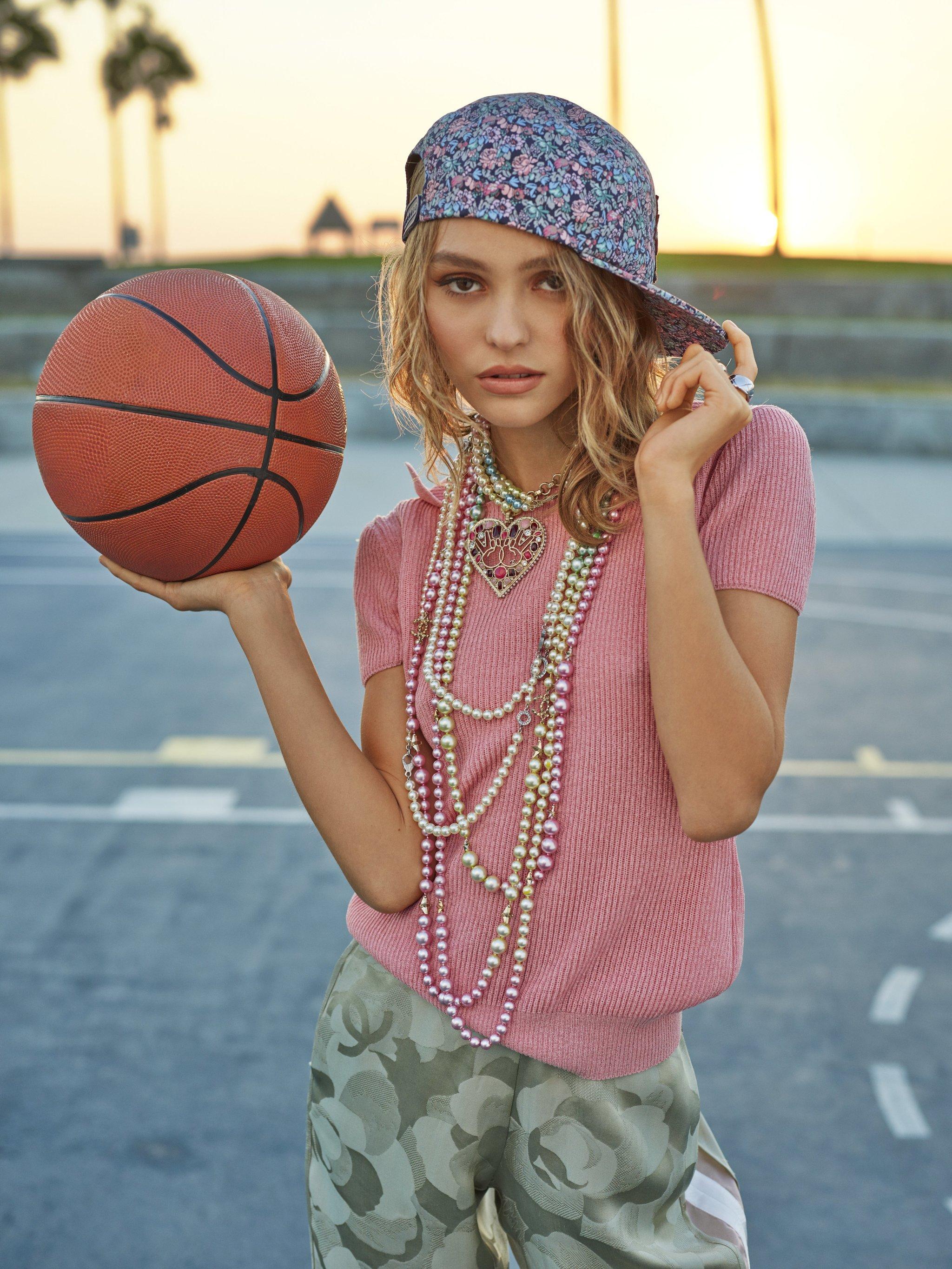 La hija de Vanessa Paradis y Johnny Depp durante el shooting en L.A.