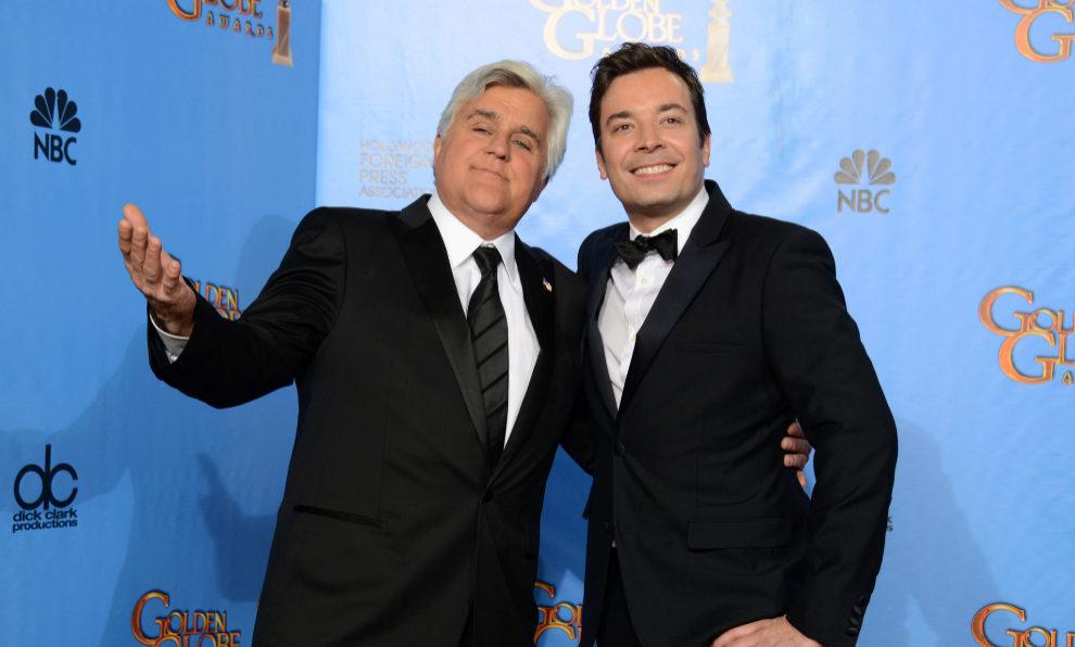 Jimmy Fallon y Jay Leno en la 70 gala de los Globos de Oro