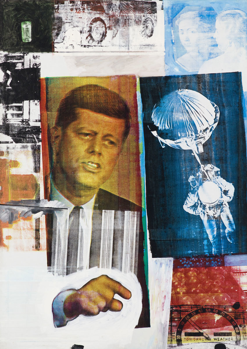 Exposición de Rauschenberg en la Tate Modern de Londres.