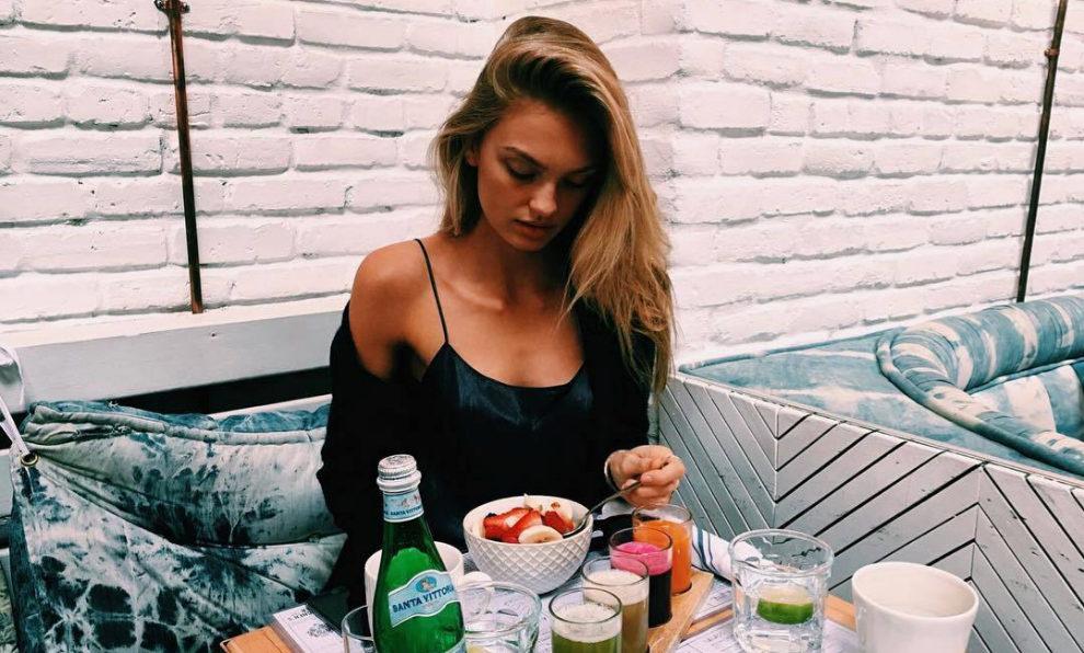 La modelo Romie Strijd ya ha empezado a cuidarse