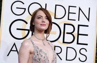 Emma Stone se hizo con el Globo de Oro a mejor actriz de comedia.