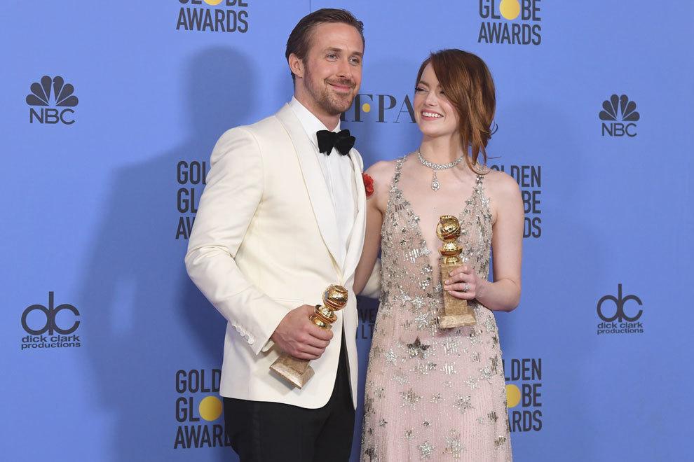 Ryan Gosling junto a Emma Stone, su compañera de reparto en La La...