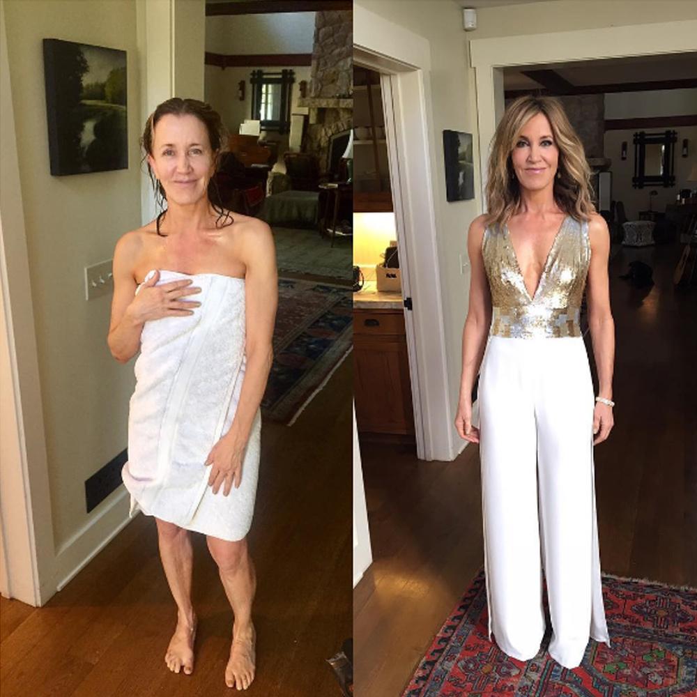 El antes y el después... La actriz estadounidense Felicity Huffman...