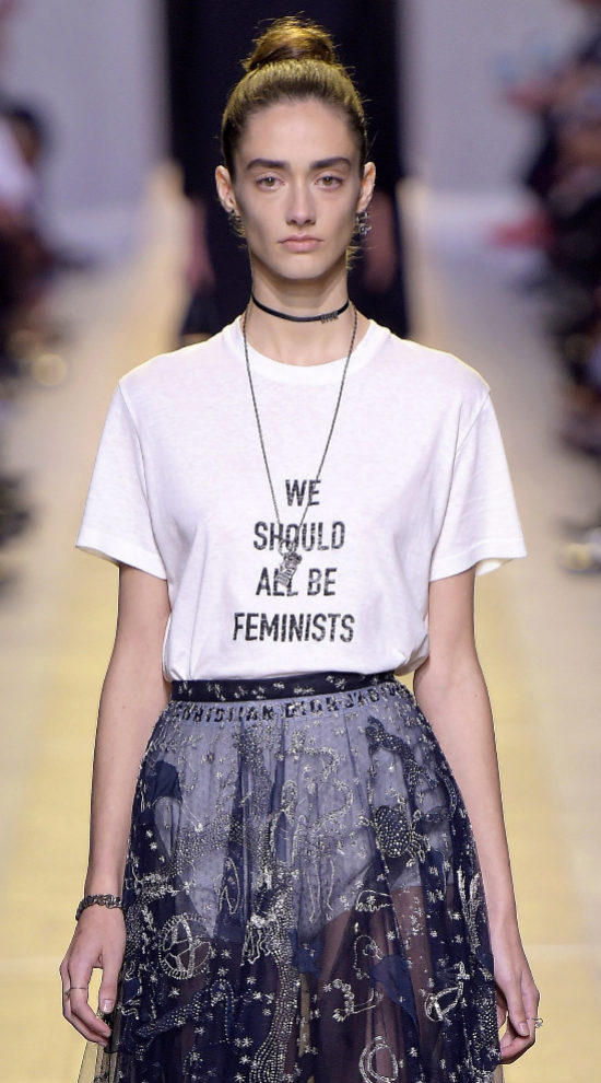 El mensaje feminista de Dior.
