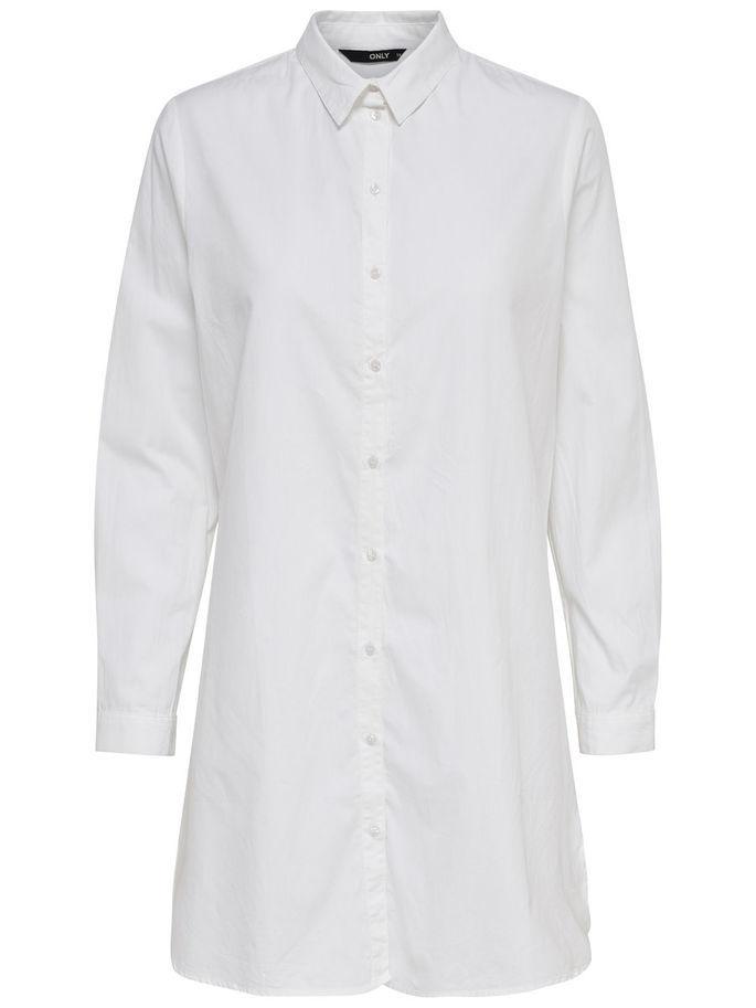 Camisa blanca oversize. De Only (26,99 euros).