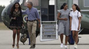 Sasha, Barack, Michelle y Malia Obama en Cape Cod en agosto de 2016.