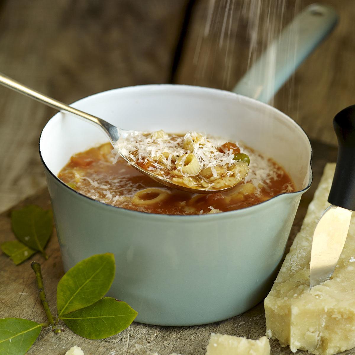 Sopa minestrone con verduras