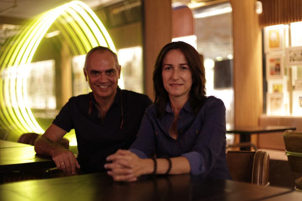 Santiago Pedraza y Carmen Carro.
