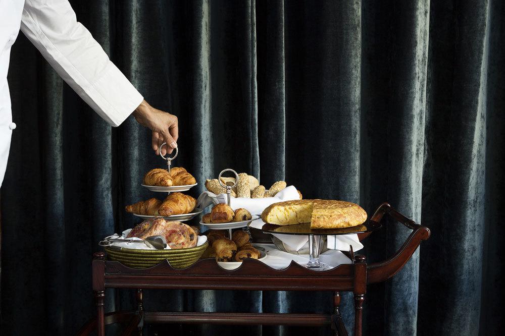 Carrito de desayuno de Narciso brasserie.