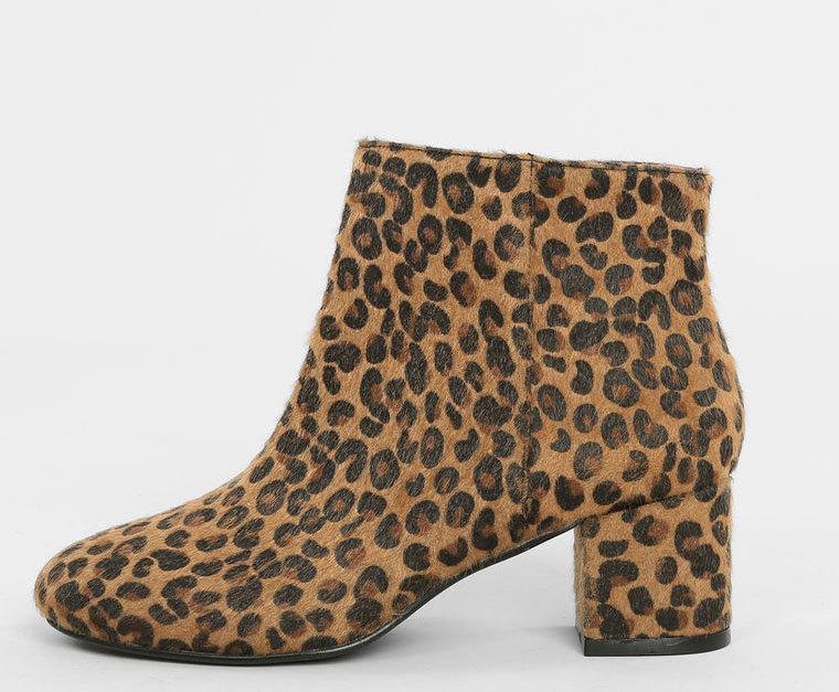 Botines con print de leopardo. De Pimkie ( 14,39 euros).