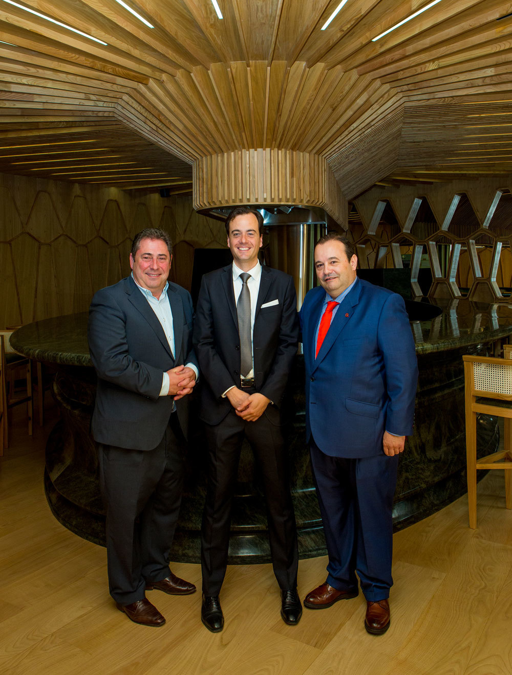 Cayo Martínez, Jorge Dávila y José Gómez.