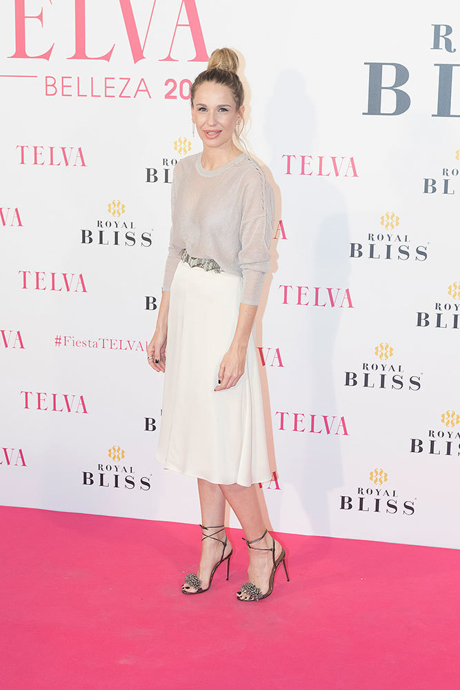 Carola Baleztena, presentadora de los Premios TELVA Belleza 2017.