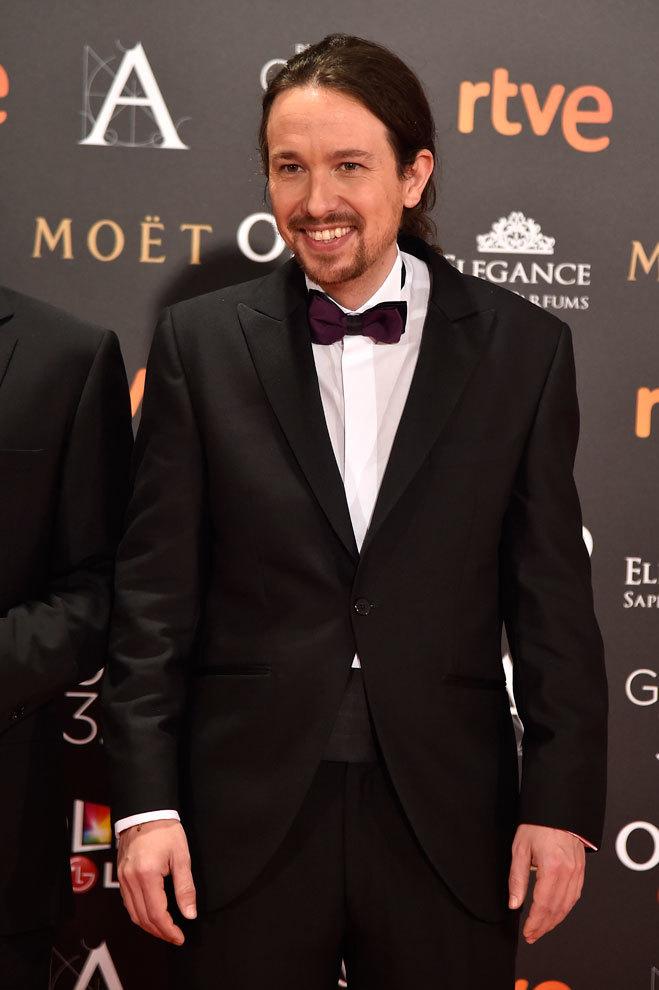 Pablo Iglesias con esmóquin en la Gala de los Goya.