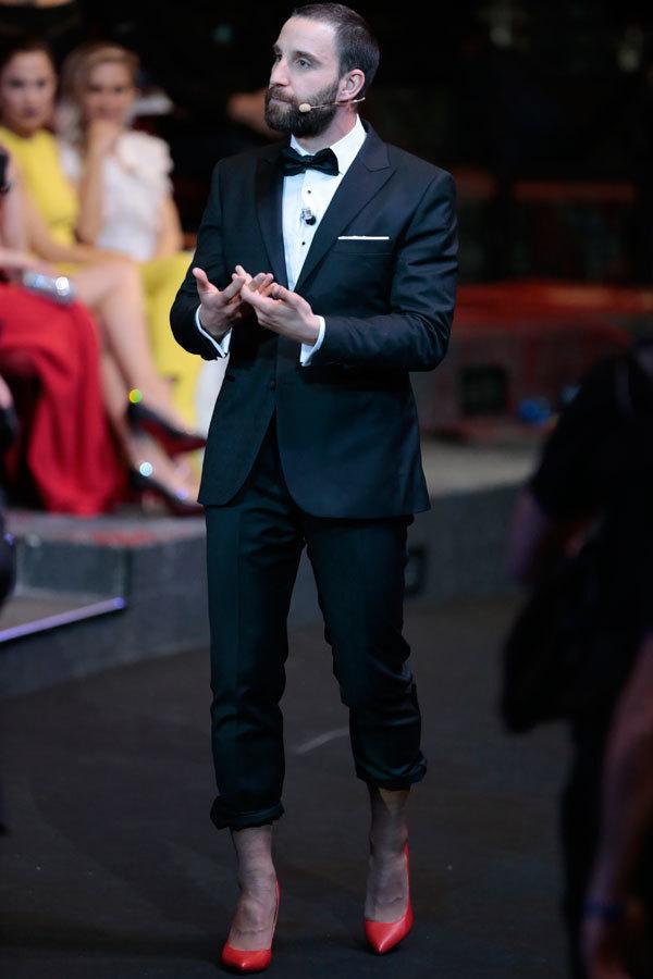 Dabi Rovira en tacones durante la Gala de los Goya.