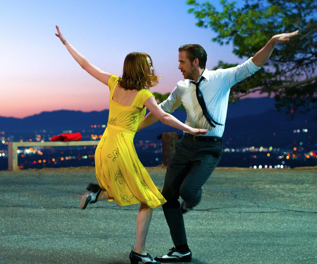 Emma Stone y Ryan Gosling en La La Land.
