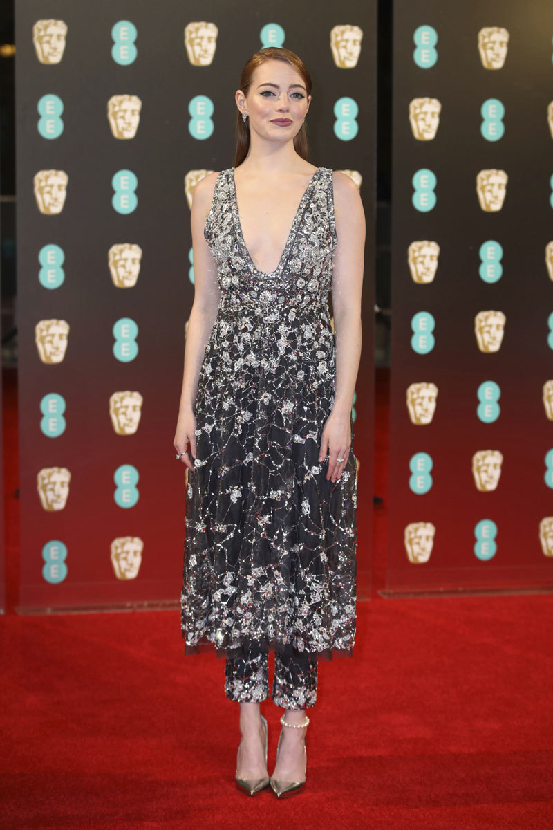 Emma Stone con un vestido joya  firmado por Chanel Alta Costura.