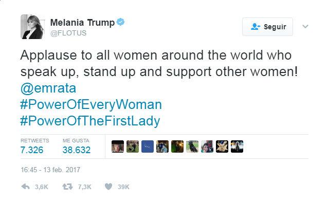 """""""Un aplauso a todas las mujeres alrededor del mundo que hablan alto,..."""