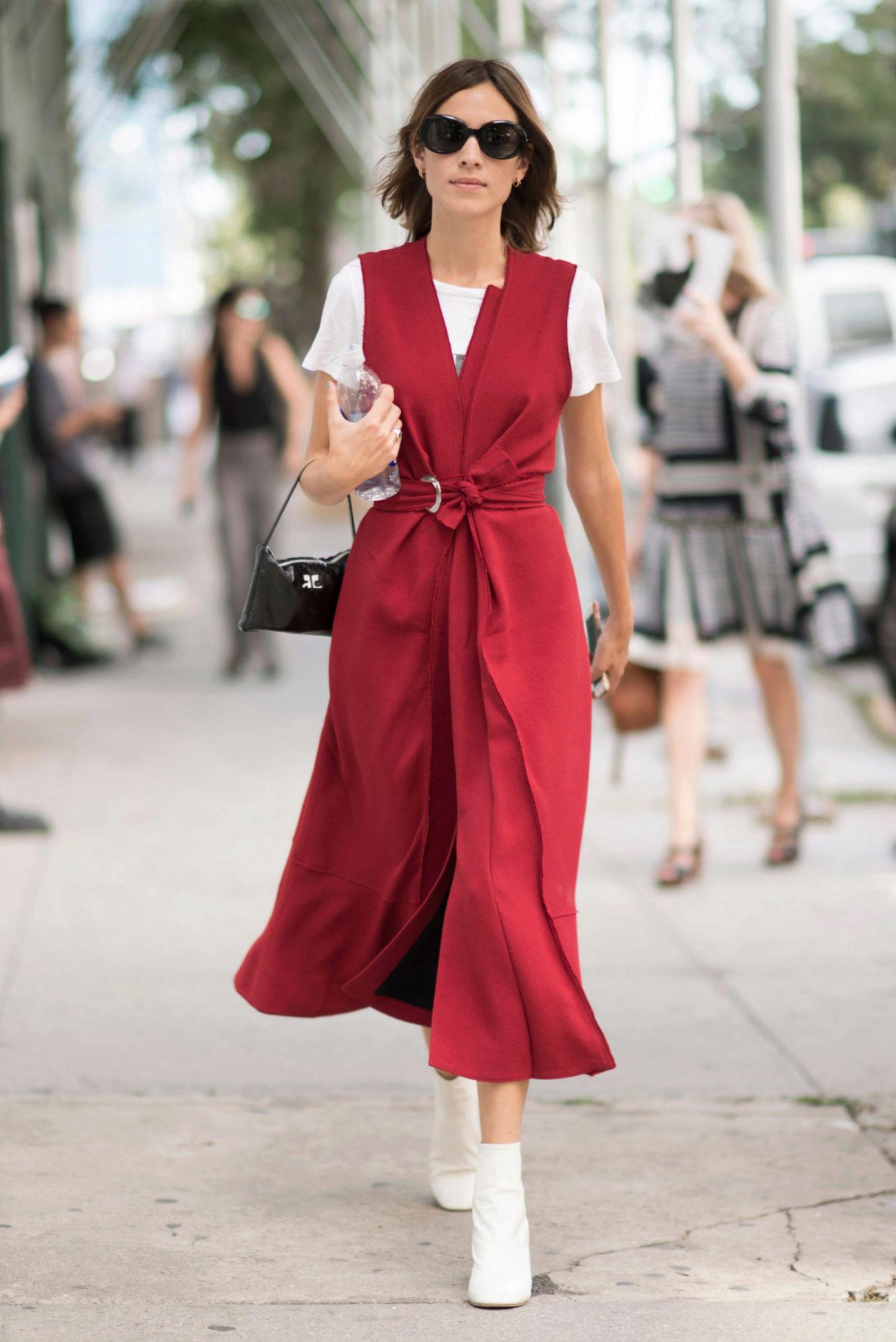 Alexa Chung, durante la Nueva York Fashion Week Primavera Verano 2017.