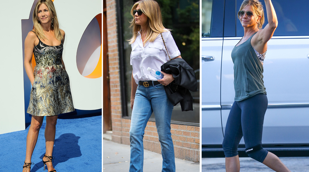 Jennifer Aniston puede presumir de tener la misma figura ahora a sus...