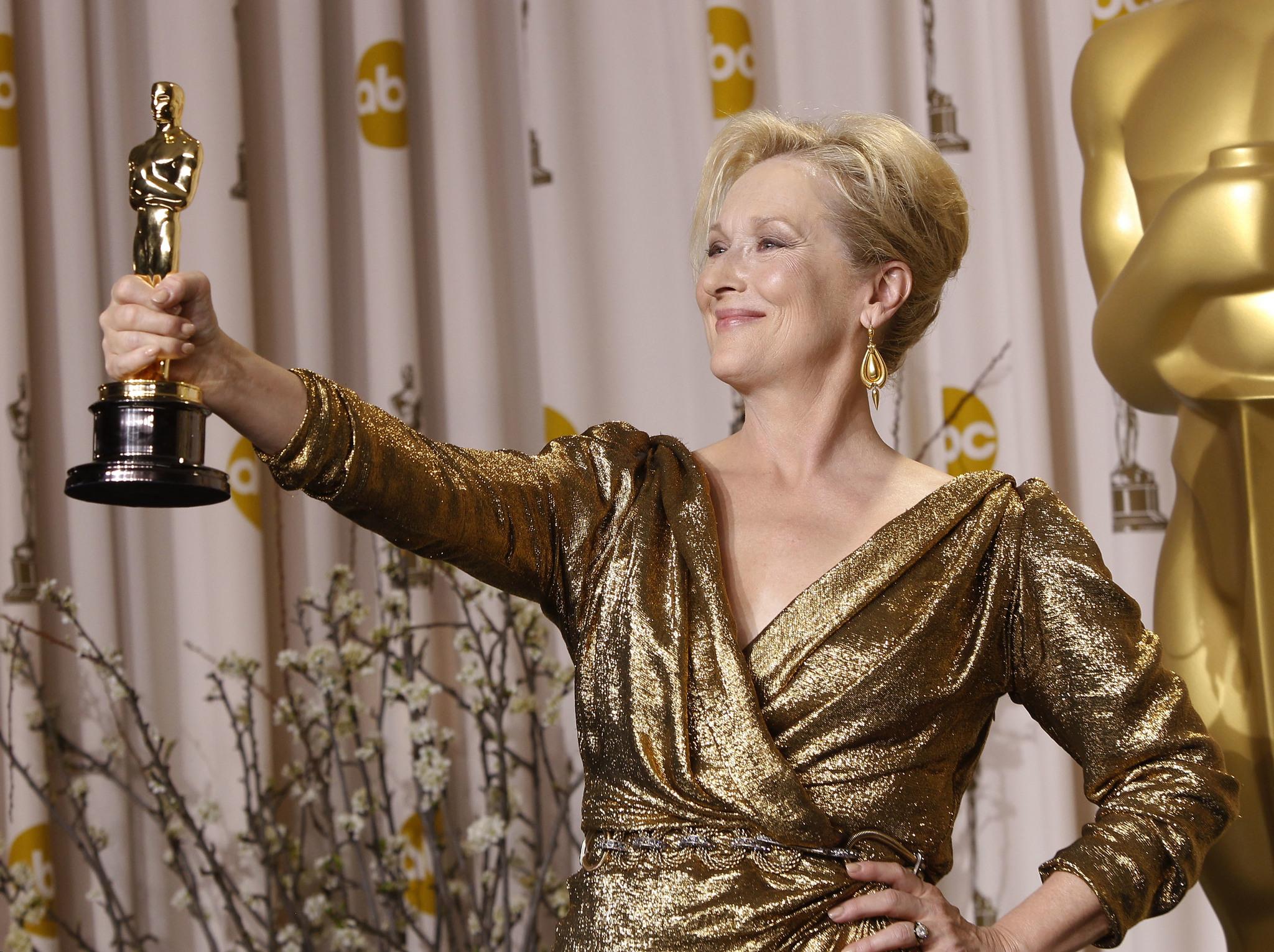 Meryl Streep, en 2012, cuando ganó el Oscar a Mejor Actriz por su...