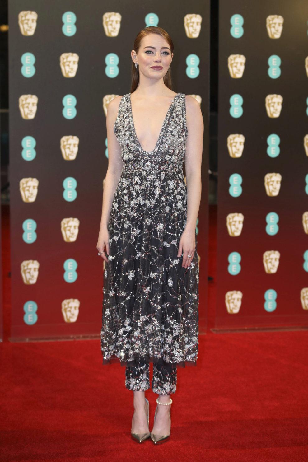 Emma Stone lució este vestido de la colección primavera-verano de...