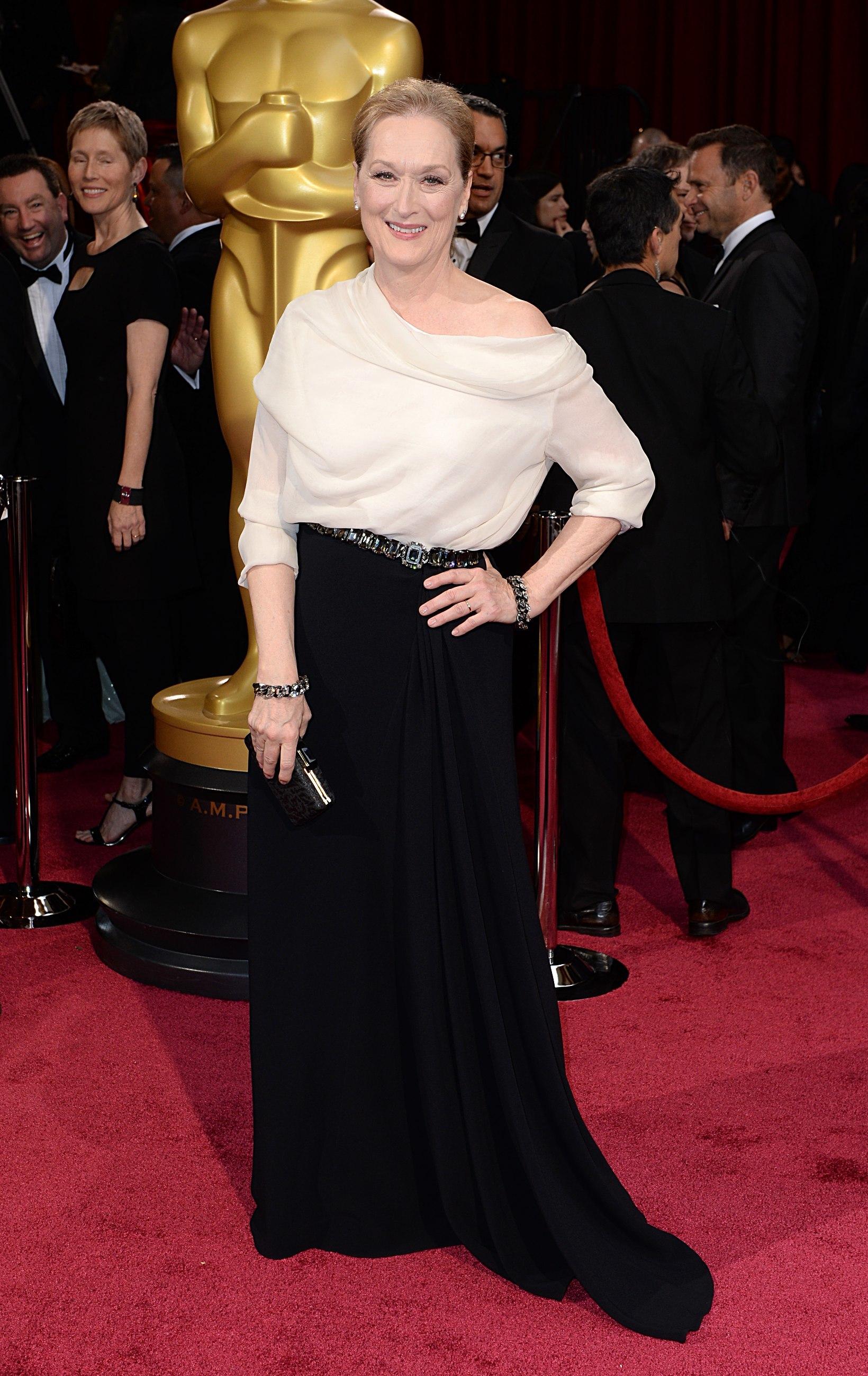 Meryl Streep en la gala de los Oscar 2016, con un diseño de Lanvin