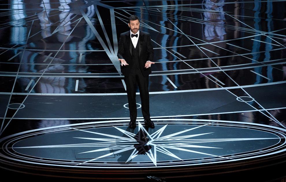 Jimmy Kimmel en los Oscars 2017.