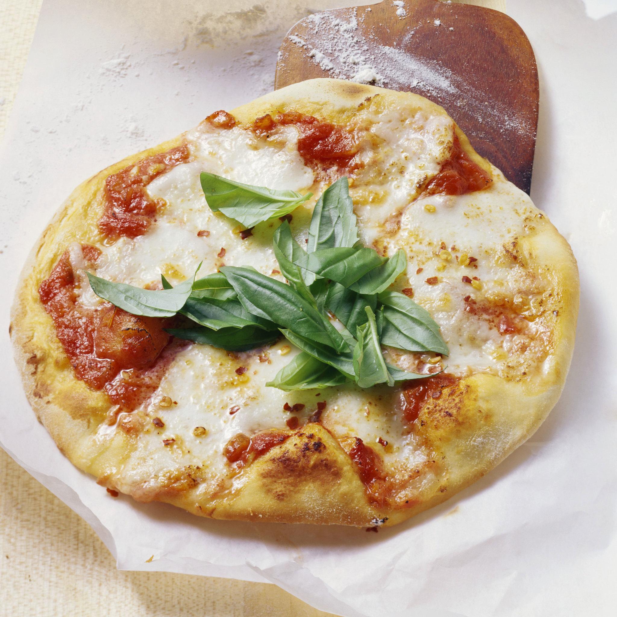 Pizza de verduras.