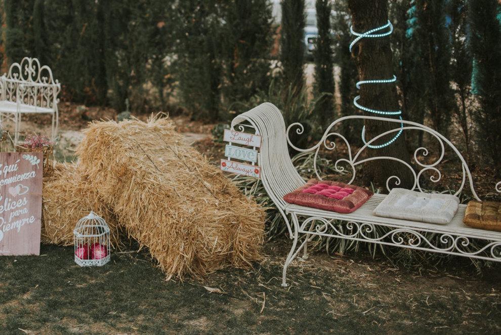 La novia se encargó personalmente de todos los detalles deco de la...