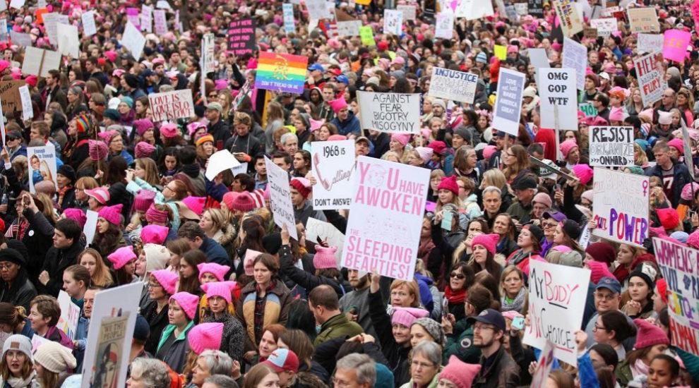 El gorro rosa se ha convertido en uno de los símbolos feministas del...