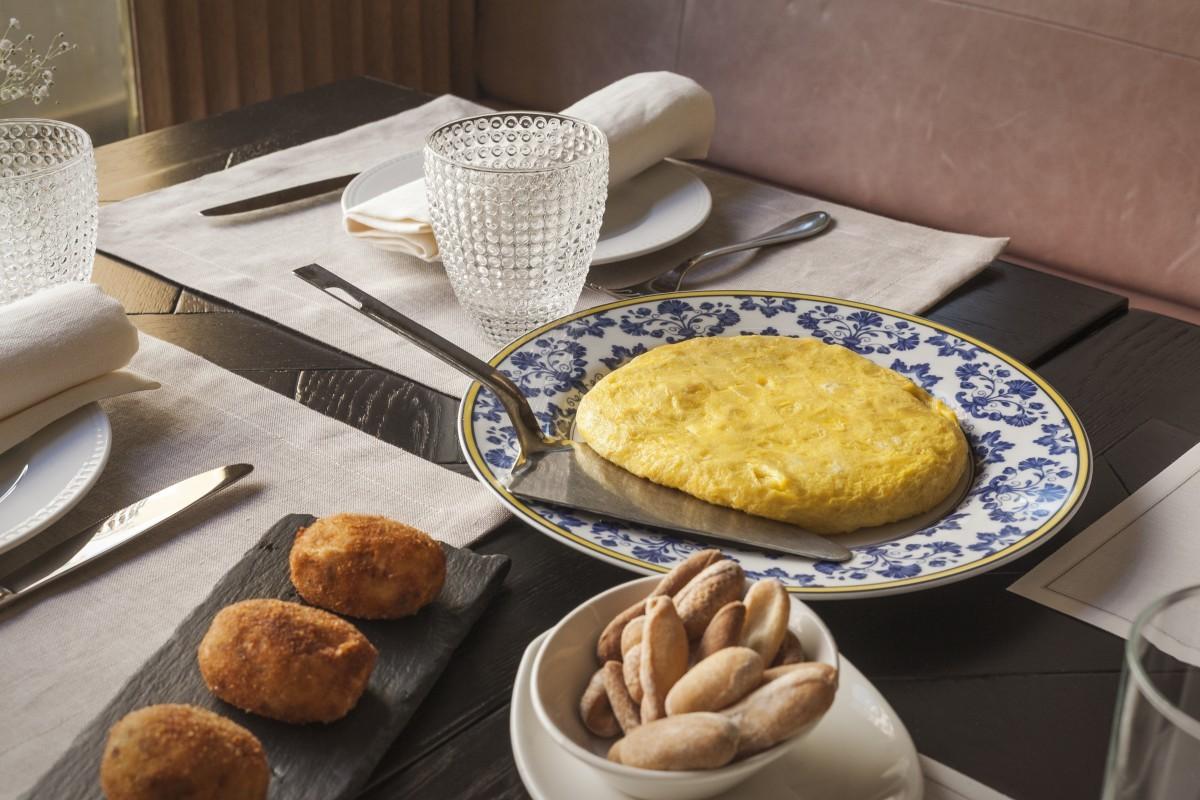 La tortilla de patatas de Taberna Pedraza.