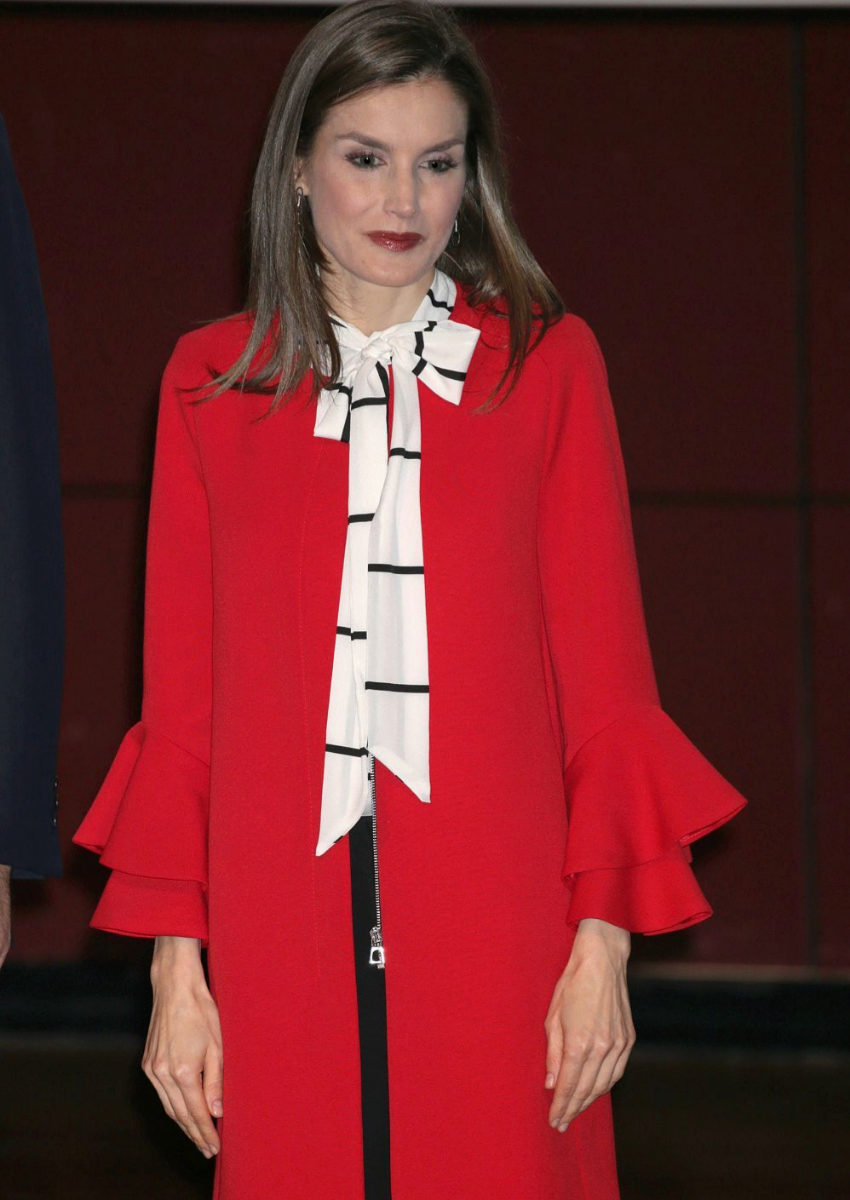 Letizia en el look que lució ayer.