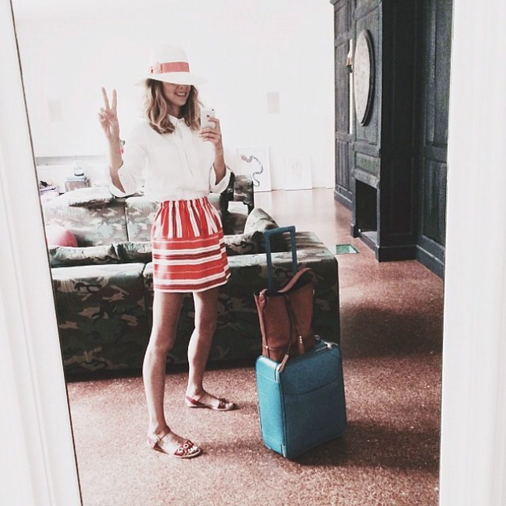 Candela Novembre se va de viaje en su Instagram.