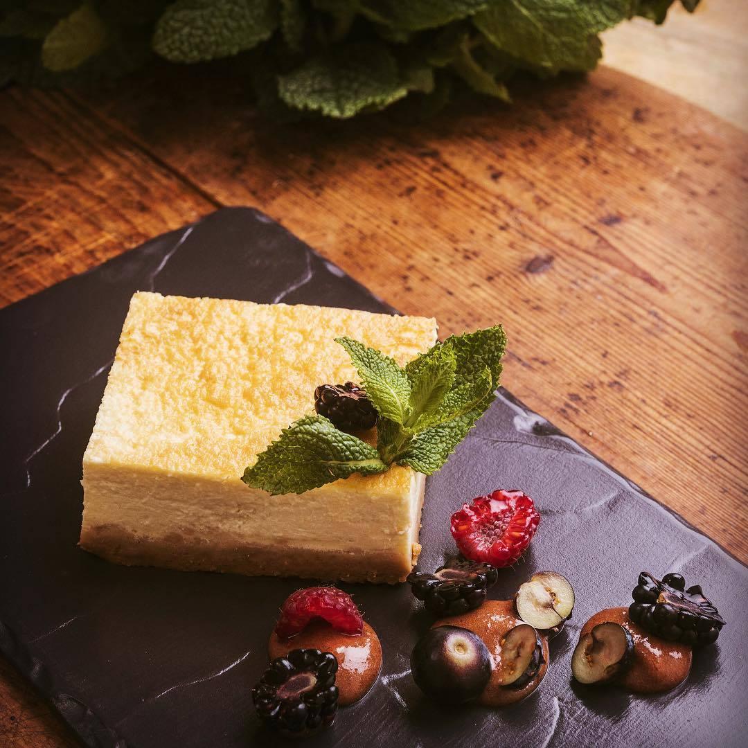 Tarta de queso (de verdad), de Mama Campo. Imprescindible probarla,...